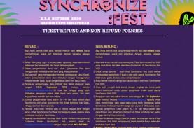 Synchronize Fest 2020 Batal Digelar, ini Cara Refund…