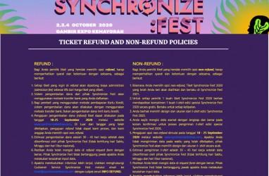 Synchronize Fest 2020 Batal Digelar, ini Cara Refund Tiketnya