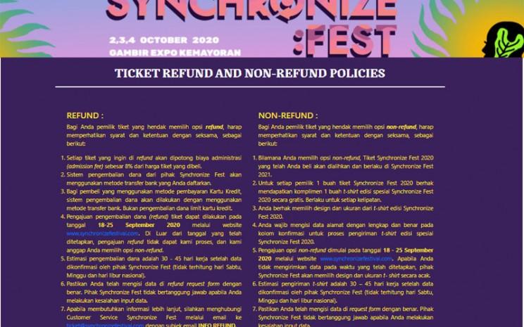 Synchronize Festival 2020 resmi dibatalkan