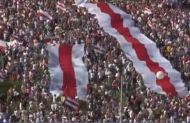Belarusia Membara: Bendera Putih Merah Putih Dikibarkan, 100 Orang Ditangkap