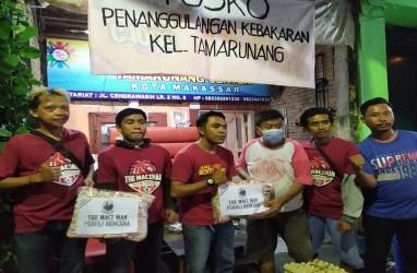 Kepedulian Pendukung PSM The Macz Man untuk Korban Kebakaran di Makassar
