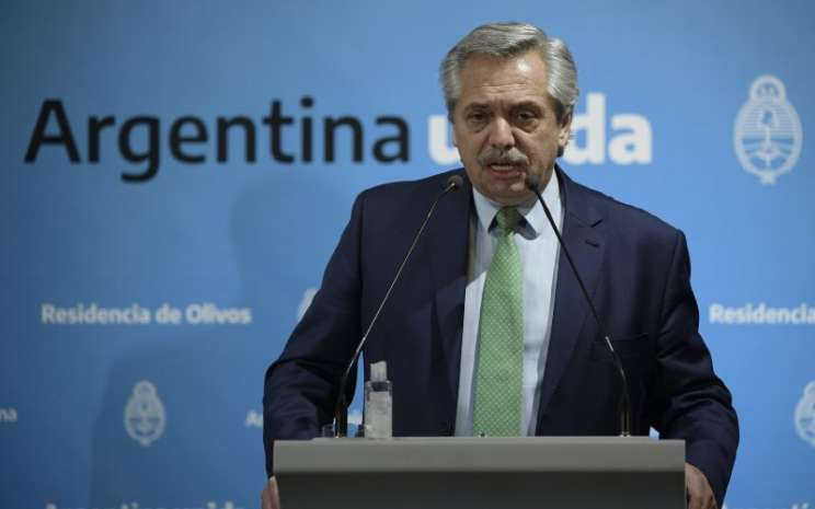 Presiden Argentina Alberto Fernandez. - Bloomberg