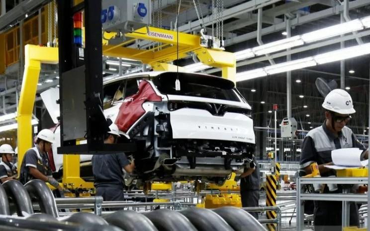 Vinfast akan memproduksi mobil listrik di Vietnam pada tahun depan, kemudian menjajaki pasar ekspor ke Amerika Serikat.  - ANTARA