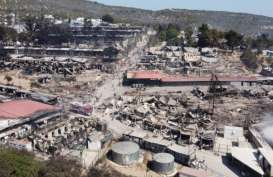 Kamp Imigran di Yunani Terbakar, Sekitar 13.000 Orang Kehilangan Tempat Tinggal