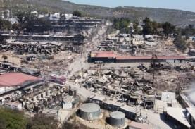 Kamp Imigran di Yunani Terbakar, Sekitar 13.000 Orang…