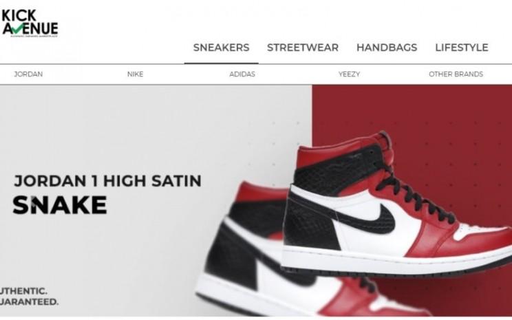 Tampilan halaman muka situs Kick Avenue - kick