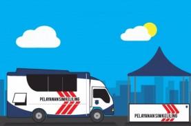 PSBB Jakarta Hari Pertama, Jaga Jarak di Lokasi SIM…