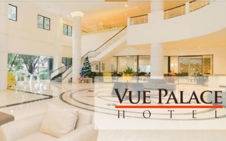 Area lobi hotel Vue Palace, Bandung. Hotel ini merupakah salah satu aset yang dikelola PT Planet Propertindo Jaya Tbk. - planetpropertindo
