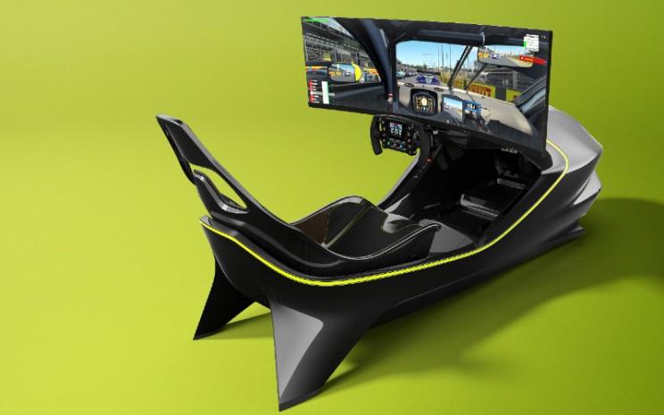 Dirakit dengan tangan oleh Curv Racing Simulators, menggunakan komponen kualitas tertinggi dan perangkat lunak Assetto Corsa terbaru, AMR-C01 siap untuk membawa penggunanya ke dunia balap virtual yang mendebarkan.  - Aston Martin