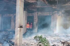 Orang Sakit Jiwa Bakar GOR Saburai di Bandar Lampung