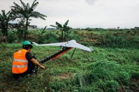 Terra Drone Survei Topografi Area Tambang KKB di Jambi