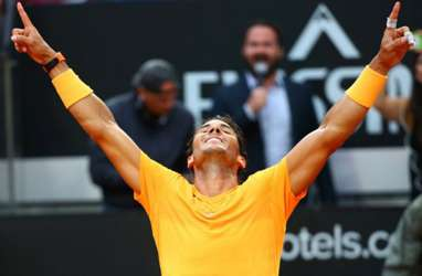 Hasil Italia Terbuka, Nadal & Djokovic ke 16 Besar, Tsitsipas Kandas