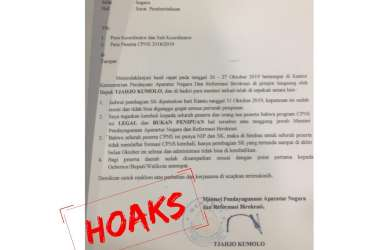 Catut Nama Tjahjo Kumolo, Oknum Raup Rp3,8 Miliar dari Hoax Tes CPNS