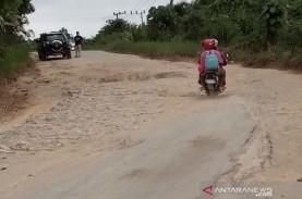 Jalan di Wilayah Ibu Kota Baru di Kaltim Mulai Diperbaiki