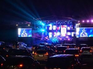 Jikustik Konser Secara Drive-In di Yogyakarta