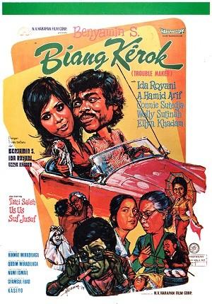 Benyamin Sueb menjadi pemeran utama dalam film Biang Kerok. - poster