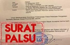Waspada! Beredar Surat Palsu Pengadaan Bansos di DKI