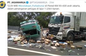 Tol Cipularang KM 91 Arah Jakarta Padat, ada Kecelakaan