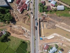 Pembangunan Proyek Pengendali Bajir di Padang Telan Anggaran Rp 8,1 Miliar