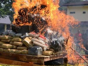 Polda Aceh Musnahkan Barang Bukti Narkotika Dari Hasil Penindakan