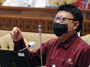Menpan RB Tjahjo Kumolo Mengikuti Raker Dengan Komisi II DPR Bahas Anggaran Kementerian