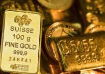 Aneka emas batangan beragam ukuran dan bentuk. Harga emas dunia mendekati level US$2.000 per troy ounce dan diperkirakan akan terus menguat seiring dengan pelemahan dolar AS./Bloomberg