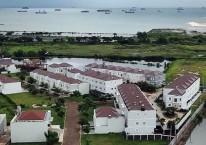 Ilustrasi kompleks perumahan di Makassar, Sulawesi Selatan./Bisnis/Paulus Tandi Bone