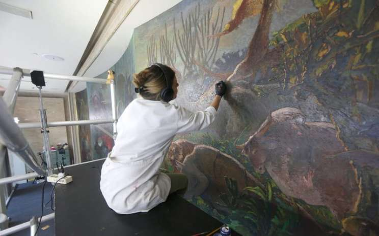 Restorasi lukisan Lee Man Fong - istimewa