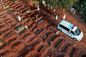 Pemakaman Protap Covid-19 Meningkat, TPU Pondok Ranggon…
