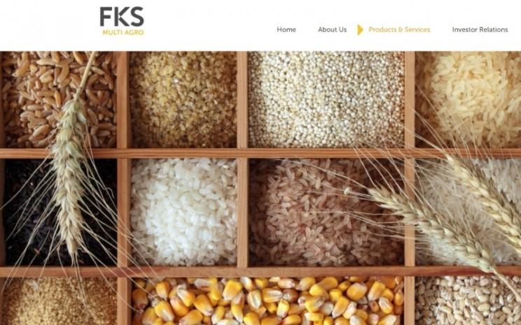 Halaman muka website resmi PT FKS Multi Agro. - fksmultiagro