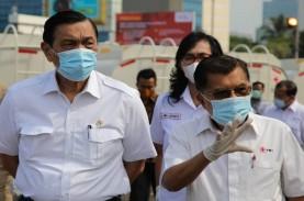 Luhut dan JK Lepas Ratusan Armada Penyemprot Disinfektan…