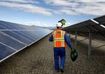 Ilustrasi- Pembangkit listrik tenaga surya (PLTS) di Amerika Serikat./Bloomberg - Ken James