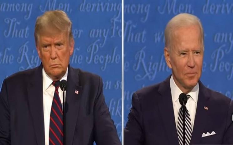 Debat calon Presiden Amerika Serikat Donald Trump dan penantangnya Joe Biden berlangsung Rabu (30/9/2020) waktu setempat. JIBI - Nancy Junita/Youtube