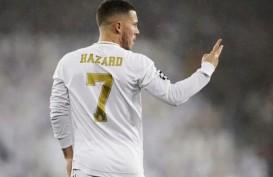 Penyerang Real Madrid Eden Hazard Kembali Cedera