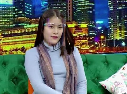 Lidya Pratiwi dalam tayangan di televisi.