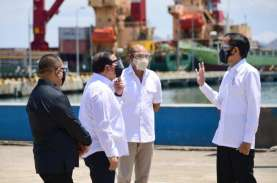 Jokowi Tinjau Proyek Terminal Multifungsi di Labuan…