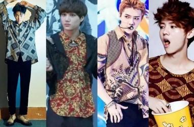 Hari Batik Nasional, Begini Gaya Personel BTS dan EXO Berbaju Batik
