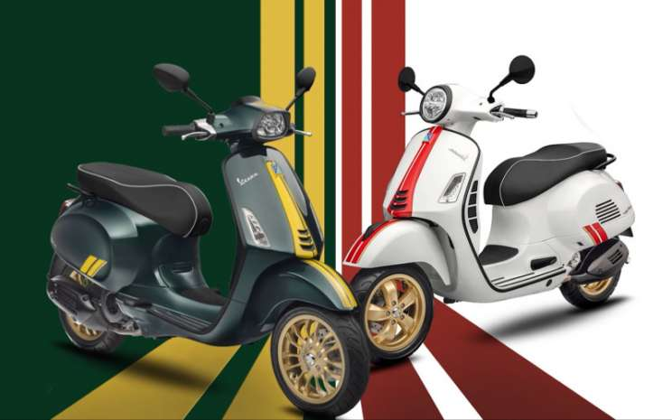 Vespa Sprint 150 Racing Sixties dan Vespa GTS 300 High Performance Engine (HPE) Racing Sixties resmi meluncur di pasaran dengan harga jual Rp54,6 juta dan Rp157 juta on the road Jakarta.  - Vespa