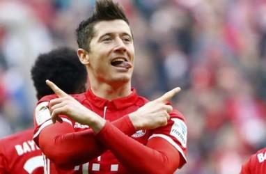 Hasil Bundesliga : Lewandowski Cetak 4 Gol, Munchen Atasi Hertha