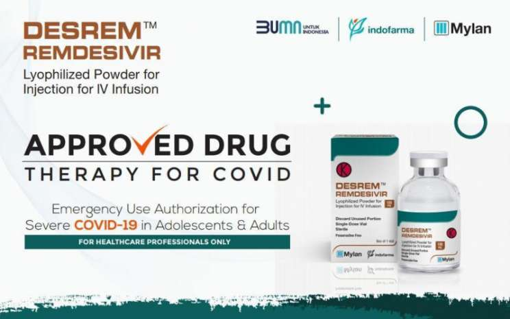 PT Indofarma siap memasarkan obat antivirus desrem remdesivir. Istimewa