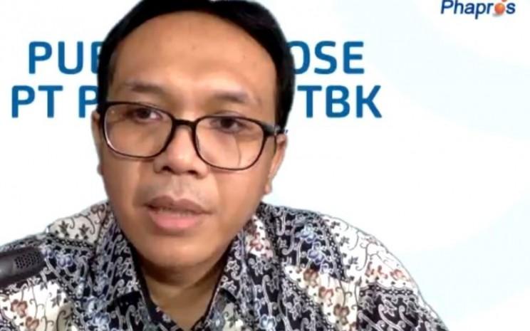 Direktur Utama Phapros Hadi Kardoko dalam paparan publik virtual, Selasa (28/7/2020).  - Ria Theresia Situmorang