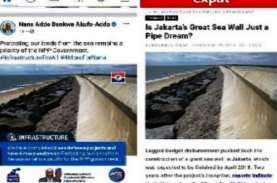 Lah, Postingan Tanggul Laut di 'Jakarta' Dihapus dari…
