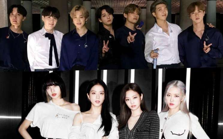 BTS dan Blackpink masuk dalam nominaassi EMA 2020. - Soompi