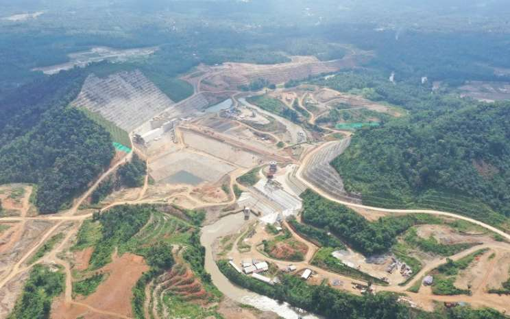 Bendungan Way Sekampung di Lampung, salah satu proyek PT Waskita Karya (Persero) Tbk.