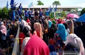 Ribuan Buruh di Cianjur Kembali Protes UU Cipta Kerja