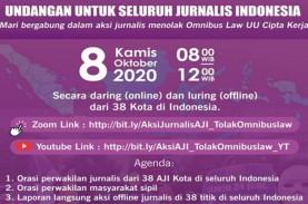 AJI Gelar Demo Online dan Luring Tolak Omnibus Law…