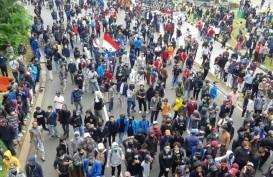 Ratusan Pelajar STM Ikut Aksi Protes UU Cipta Kerja di Dekat Istana Merdeka