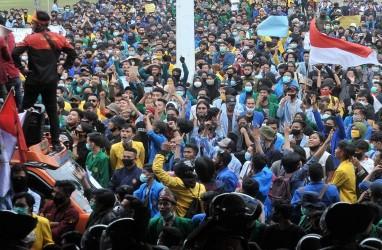 Polisi Tangkap 499 Demonstran di Kota Palembang