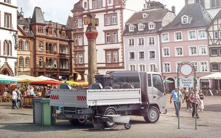 Sulit membayangkan jalan-jalan kota tanpa kendaraan pengiriman, pedagang, dan bisnis skala kecil lainnya.  - Bosch