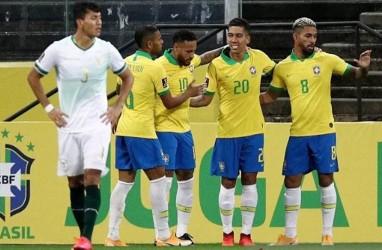 Hasil Pra-Piala Dunia 2022, Brasil & Kolombia Menang Besar